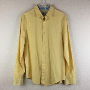 Penguin Heritage Slim Fit Yellow Button Down Shirt